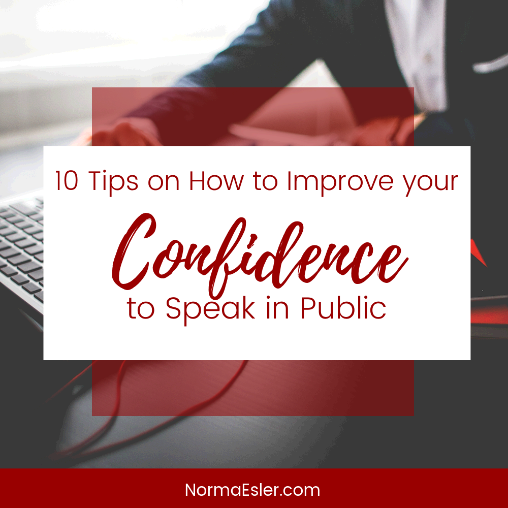 improve your confidence to speak in public
