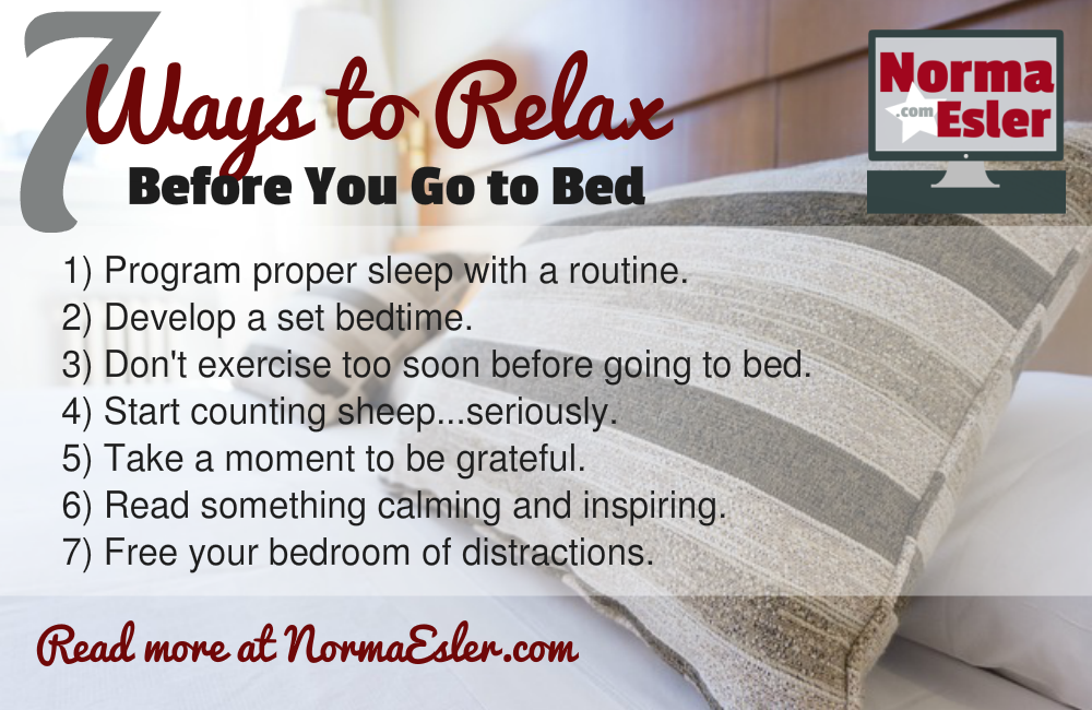 7 Ways to Relax Before You Go to Bed Infographic