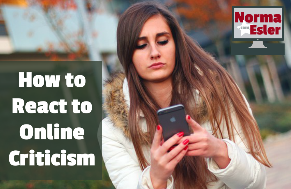 how to react to online criticism