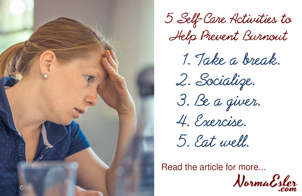 self-care activities to help prevent burnout