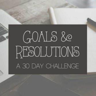 Goals Resolutions Challenge