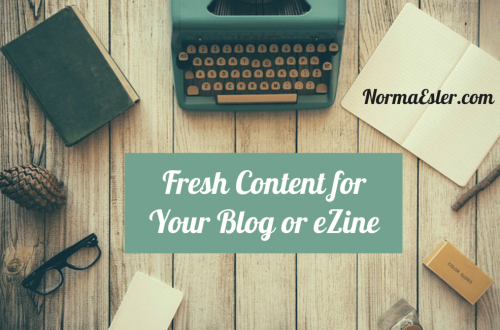 Fresh Content for Your Blog or eZine