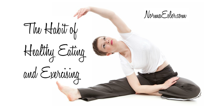 the habit of healthy eating and exercising