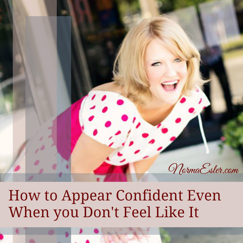 how to appear confident