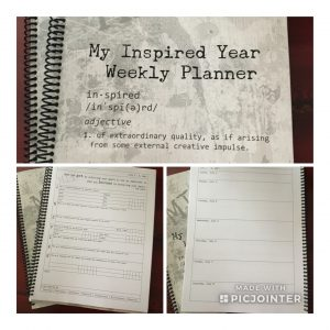 my inspired year weekly planner